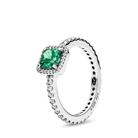 Anillo En Plata De Ley Elegancia Atemporal Verde de Pandora en 21 Buttons
