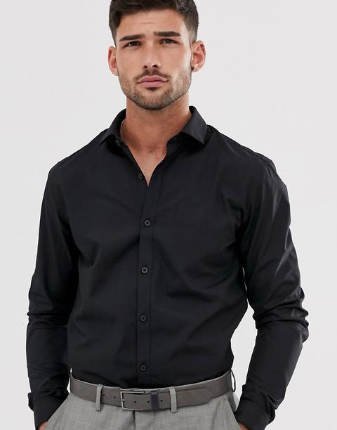 Topman Formal Shirt In Black