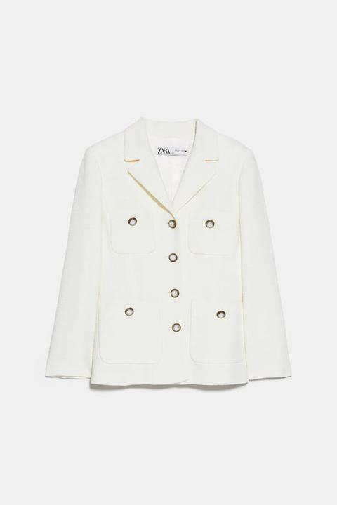 Chaqueta Botones de Zara en 21 Buttons
