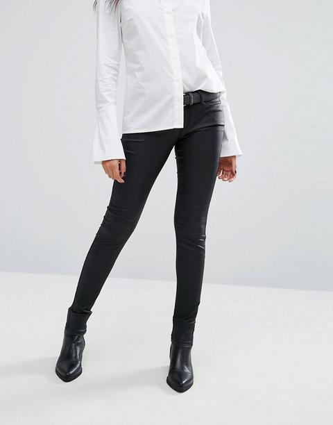 Noisy May Coated Skinny Jean-black