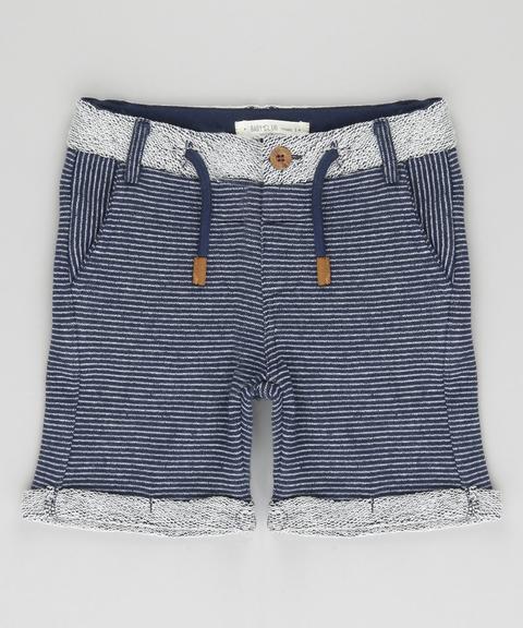 Bermuda Infantil Em Moletom Azul Marinho from C&A on 21 Buttons