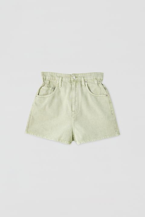 Shorts Menta Goma Cintura