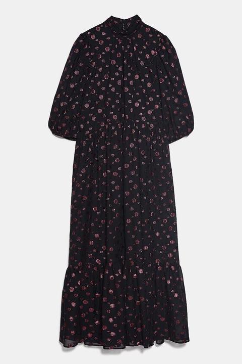 Vestido Midi Volumen de Zara en 21 Buttons