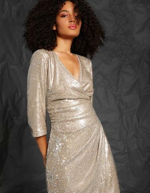 Vestido Efecto Cruzado Con Lentejuelas Veis Mujer de Morgan de Toi en 21 Buttons