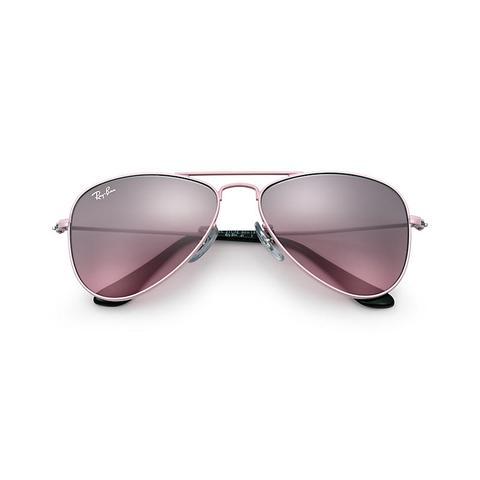 Aviator Junior Unisex Sunglasses Lentes: Rosa, Montura: Rosa