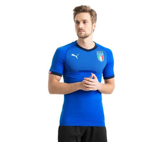 Camiseta Auténtica De La Primera Equipación Italia, Azul, Talla S | Puma Hombres de Puma en 21 Buttons