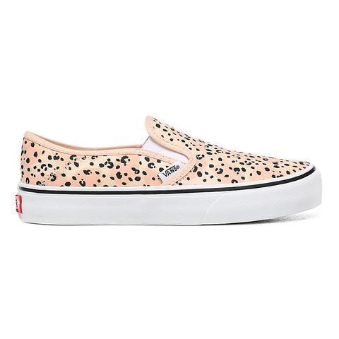 Vans Chaussures Leila Hurst Slip-on Surf ((leila Hurst) Tiny Animal) Femme Rose