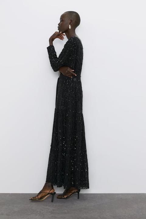 Vestido Asimétrico Lentejuelas