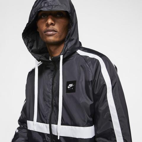 Nike Air Chaqueta De Tejido Woven - Hombre - Negro