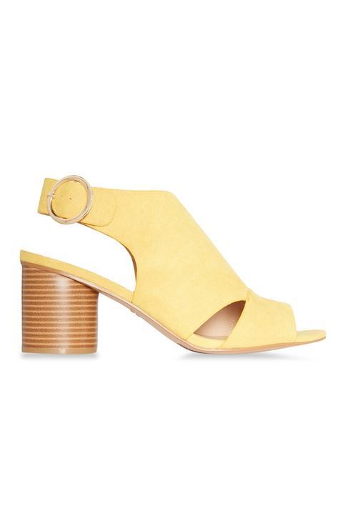 Yellow Block Heel Sandal from Primark