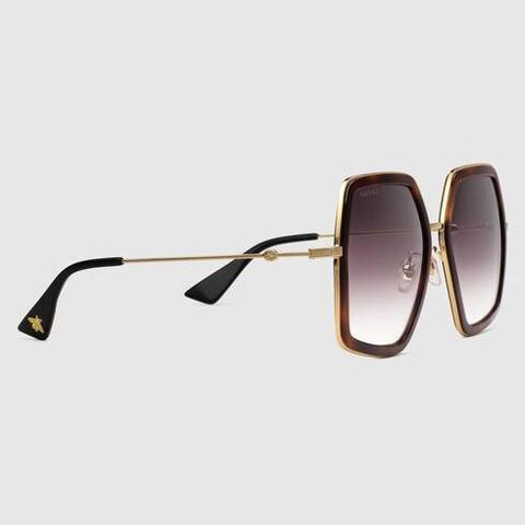 Gafas De Sol Cuadradas Extragrandes De Metal