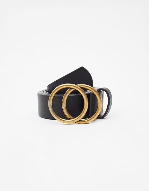 Cinturón Hebilla Doble Círculo
