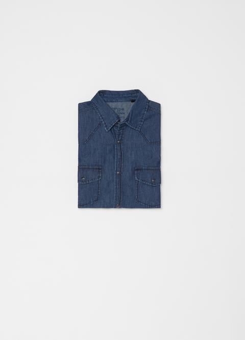 Camicia Colletto Alla Coreana Cotone from OVS on 21 Buttons