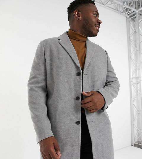 New Look Plus Overcoat In Grey