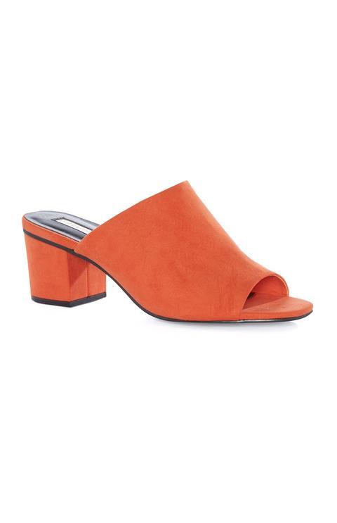 Coral Block Heel Mule