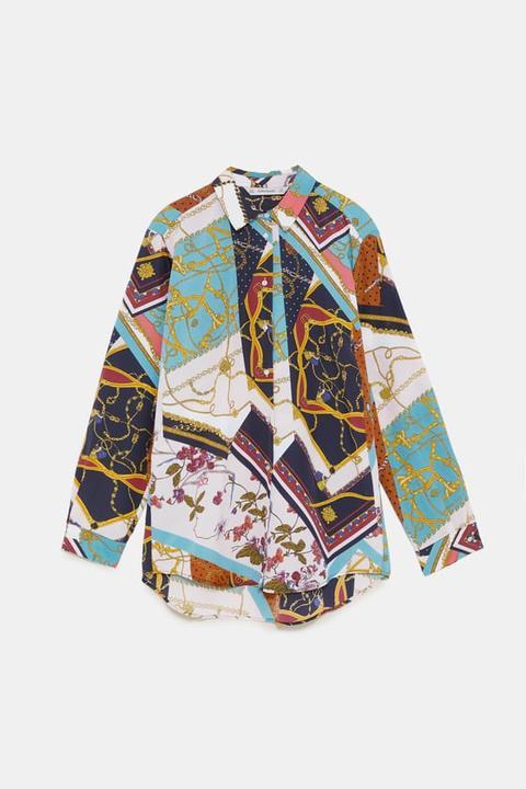 Blusa Estampado Patchwork Cadenas