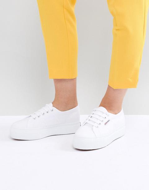 Superga - 2790 Linea - Sneakers Flatform Con Suola Grossa Bianche - Bianco de ASOS en 21 Buttons