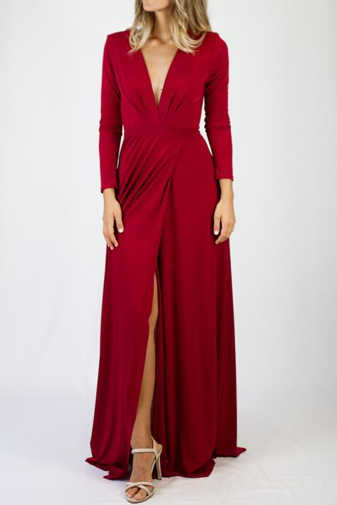 Vestido Alexandria Rojo Hermés