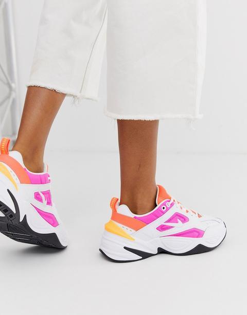 Zapatillas En Blanco Y Rosa M2k Tekno De Nike de ASOS en 21 Buttons