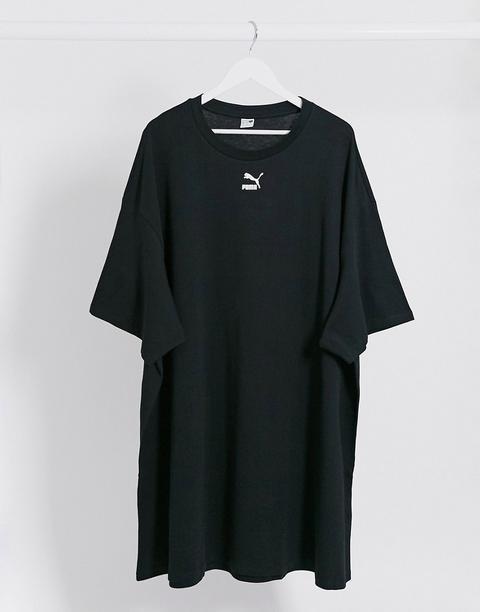 Puma - Robe T-shirt À Petit Logo - Noir