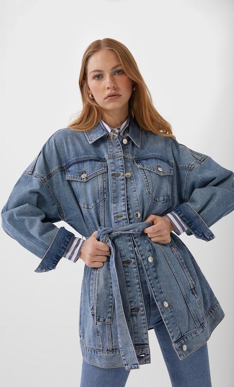 Femme Ceinture Veste en jean