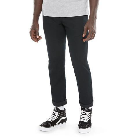 Vans Pantalones Chinos Elásticos Authentic (black) Hombre Negro de Vans en 21 Buttons
