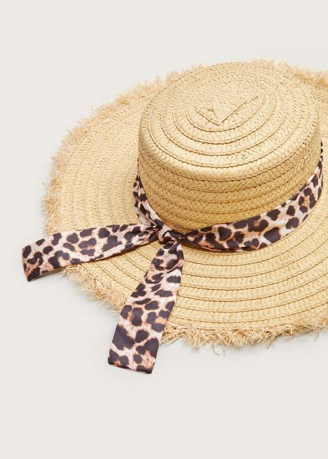 Sombrero Paja Leopardo