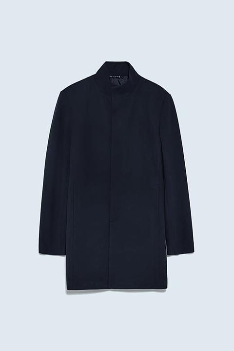 Abrigo Estructura Bicolor de Zara en 21 Buttons