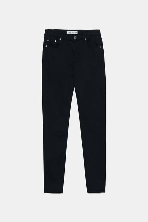 Jeans Zw Premium Skinny Sateen Stay Black