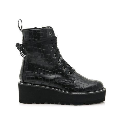 Bota Con Plataforma Vasey Negro de Sixtyseven Shoes en 21 Buttons