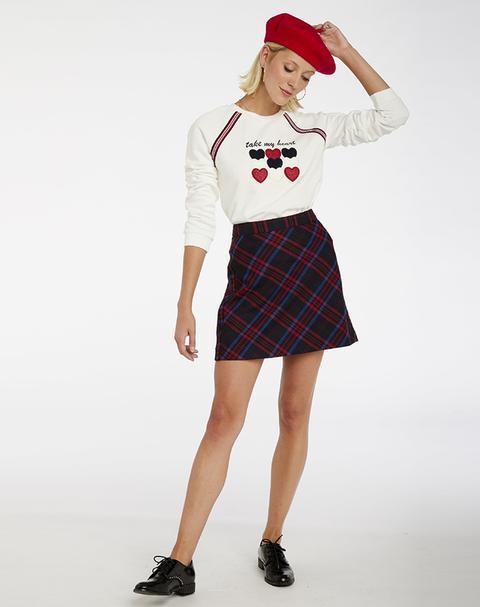 Falda Mini Estampado Escocés