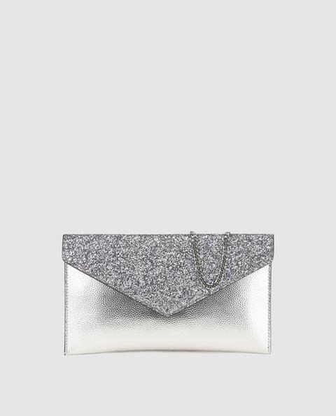 Guess - Sobre En Plata Con Solapa Glitter de El Corte Ingles en 21 Buttons