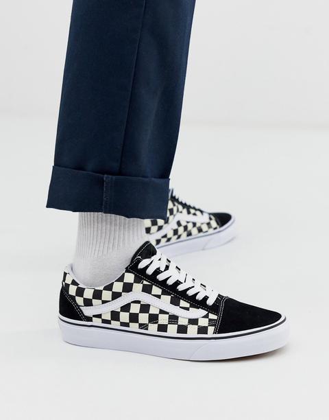 Vans Old Skool - Sneakers Nere A Scacchi - Nero de ASOS en 21 Buttons