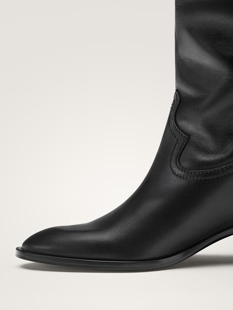 Bota Cowboy Negra de Massimo  Dutti en 21 Buttons