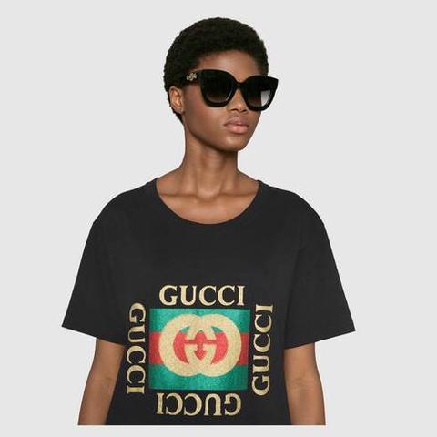 Gafas De Sol Con Montura Redonda De Acetato Con Estrella