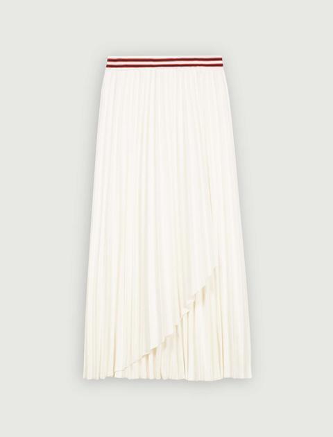 Falda Plisada Con Bandas A Contraste