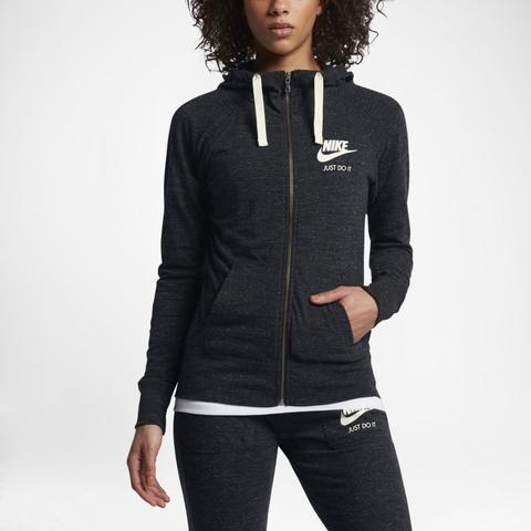 Nike Sportswear Gym Vintage Sudadera Con Capucha Con Cremallera Completa - Mujer - Negro de Nike en 21 Buttons