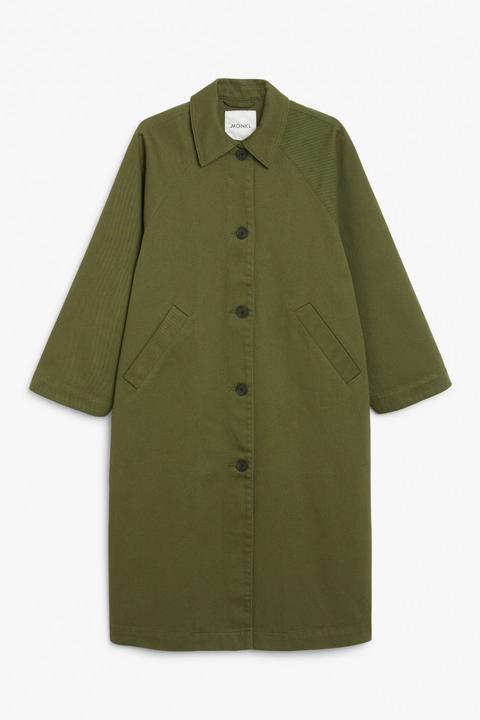 Utility Raglan Coat - Green