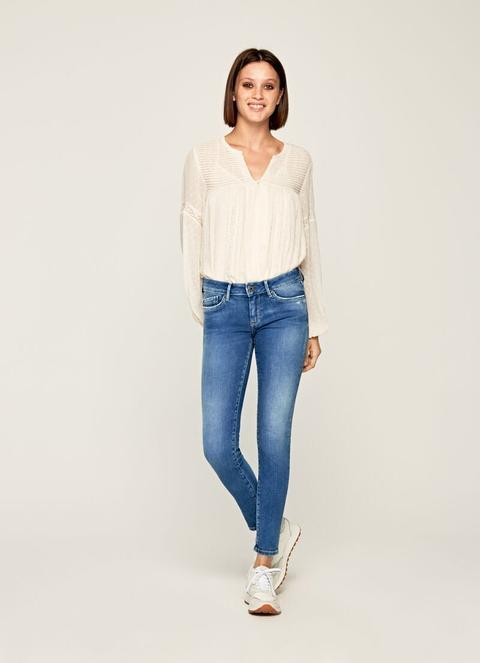 Pixie Skinny Fit Mid Waist Jeans de Pepe Jeans en 21 Buttons