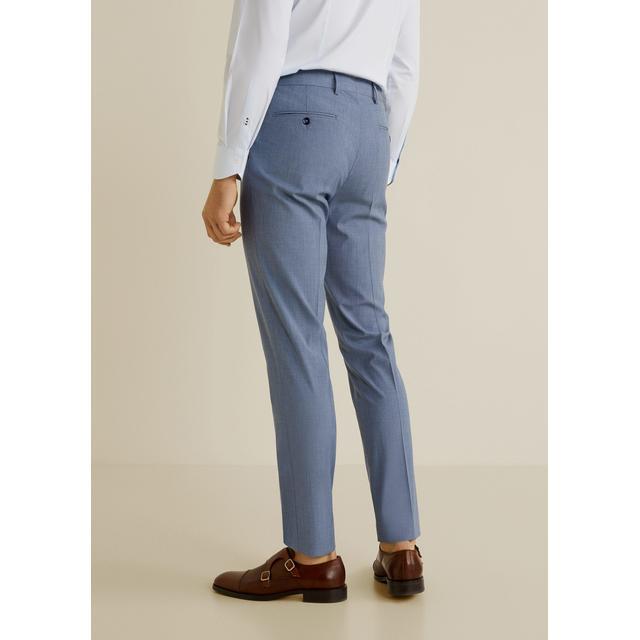 De Marino Slim Corte Espiga Azul Gianni Pantalones Traje WD9IEH2