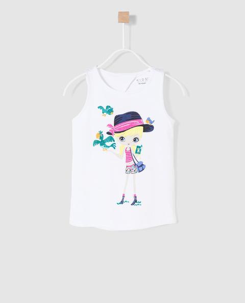 Freestyle - Camiseta De Niña Blanca Con Dibujo de El Corte Ingles en 21 Buttons
