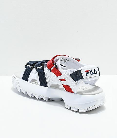 Fila Disruptor White Platform Sandal | Zumiez from Zumiez on 21 Buttons