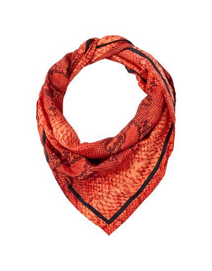 Pañuelo Serpiente Rojo