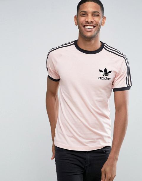 escolta compacto personalizado  Adidas Originals - California Bq1806 - T-shirt Rosa - Rosa from ASOS on 21  Buttons