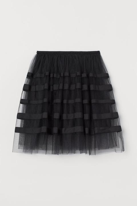 Falda De Tul Con Grosgrain - Negro de H&M en 21 Buttons