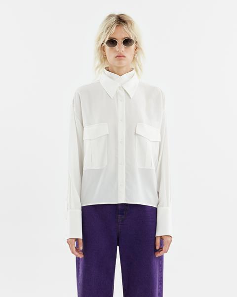 Camisa Bolsillos Blanca de Bimba Y Lola en 21 Buttons