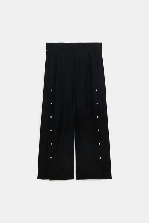 Pantalón Ancho Apliques