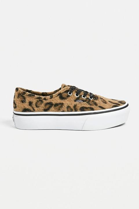 Vans Authentic Fuzzy Leopard Print