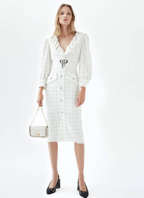 Vestido Tweed Midi de Uterqüe en 21 Buttons
