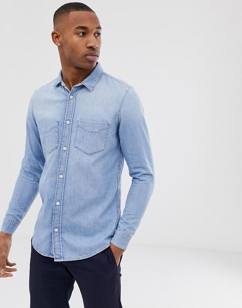 Tiger Of Sweden Jeans - Camicia Di Jeans Azzurra - Blu de ASOS en 21 Buttons
